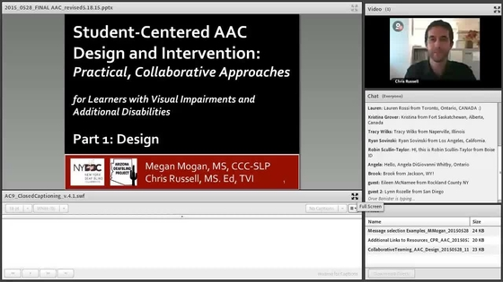image of computer screen with title slide of presentation