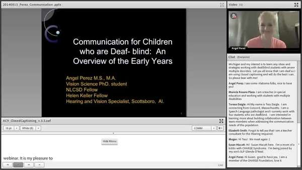 image of computer screen showing title slide of presentation