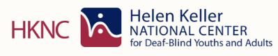 HKNC logo shows letters H K N C and helen keller national center for deaf-blind youths and adults