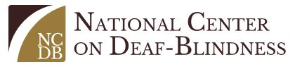 NCDB logo shows letters N C D B and noational center on deaf blindness