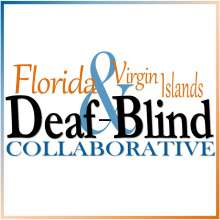 logo says Florida & Virgin Islands in orange letters plus Deaf-Blind in black letters and Collaborative in blue capital lettersin