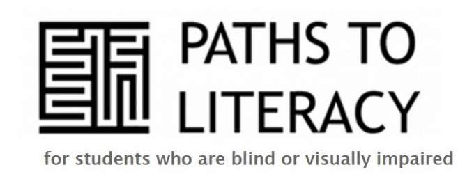 Banner shows a black and white maze and the words paths to literacy for students who are blind or visually impaired