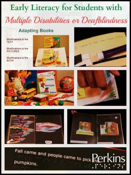 Image of early literacy tools with title Early Literacy for students with multiple disabilities or deaf-blindness